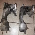 Rechts der TSDI Motor aus einem Schlacht Fahrzeug, Links der C-Tech Motor aus der R-Cup, die jeweiligen Hälften welche für den Neu Aufbau genutzt werden, bereits grob gereinigt